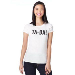 3/$30 ✨Kate Spade 'TA-DA!' White Small T-shirt